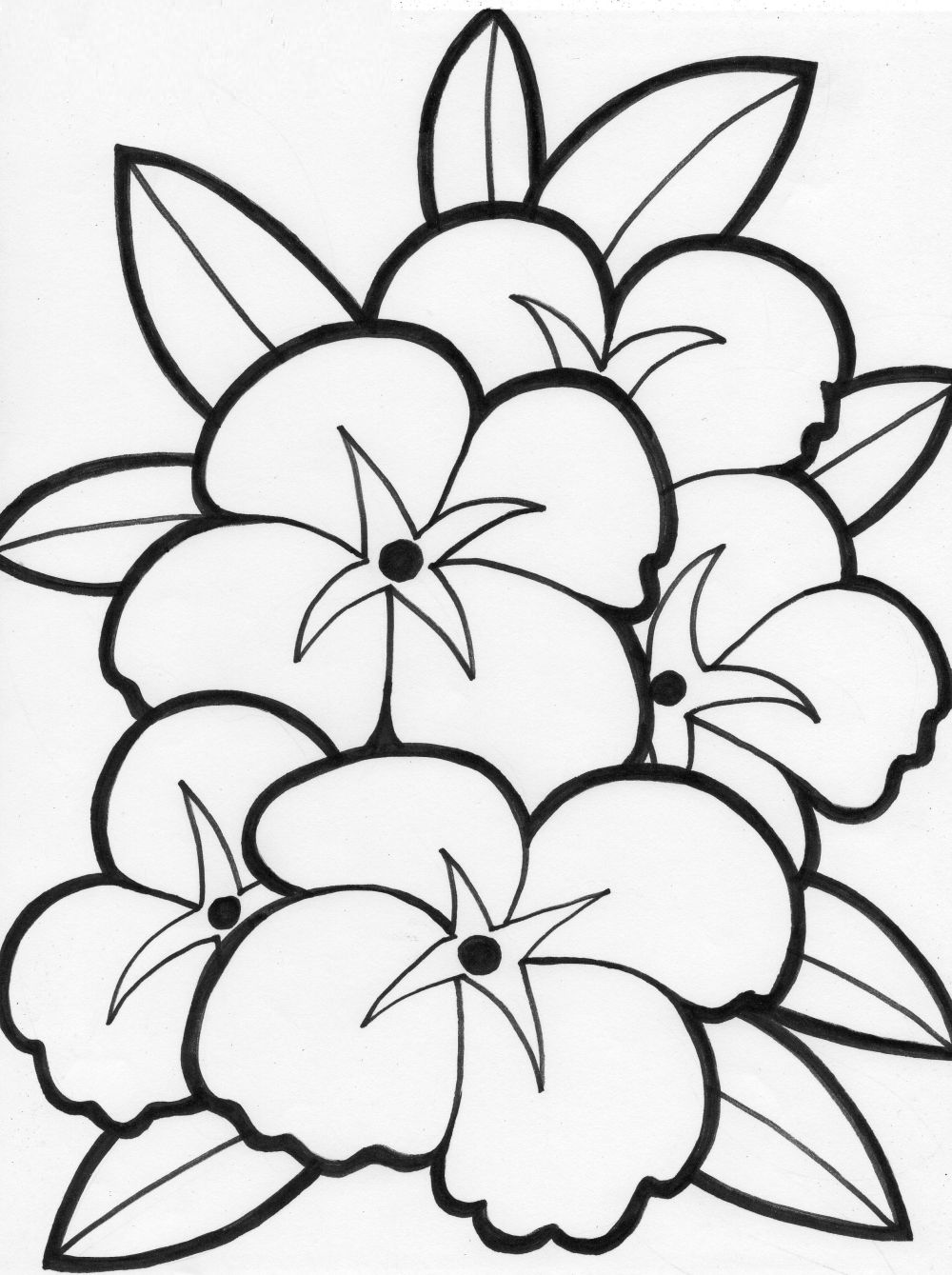 Printable flowers coloring pages for girls