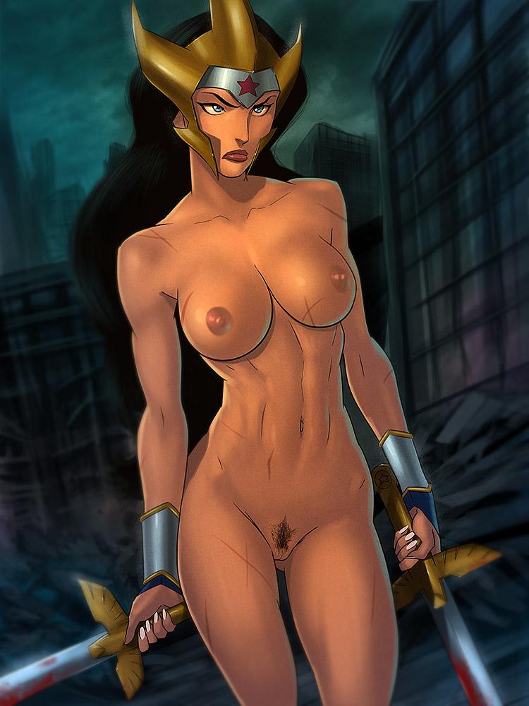 Sexy naked wonder woman comic
