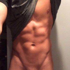 Cut boy twink fitness big cock