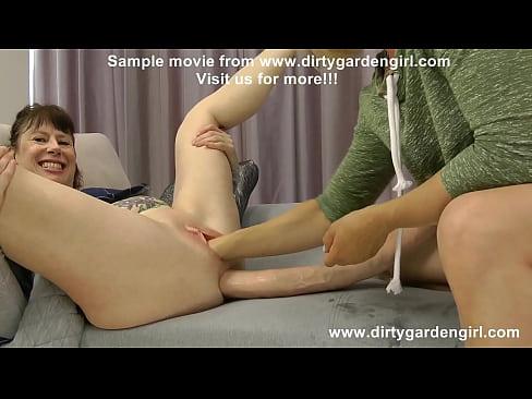 Dirty garden girl prolapse