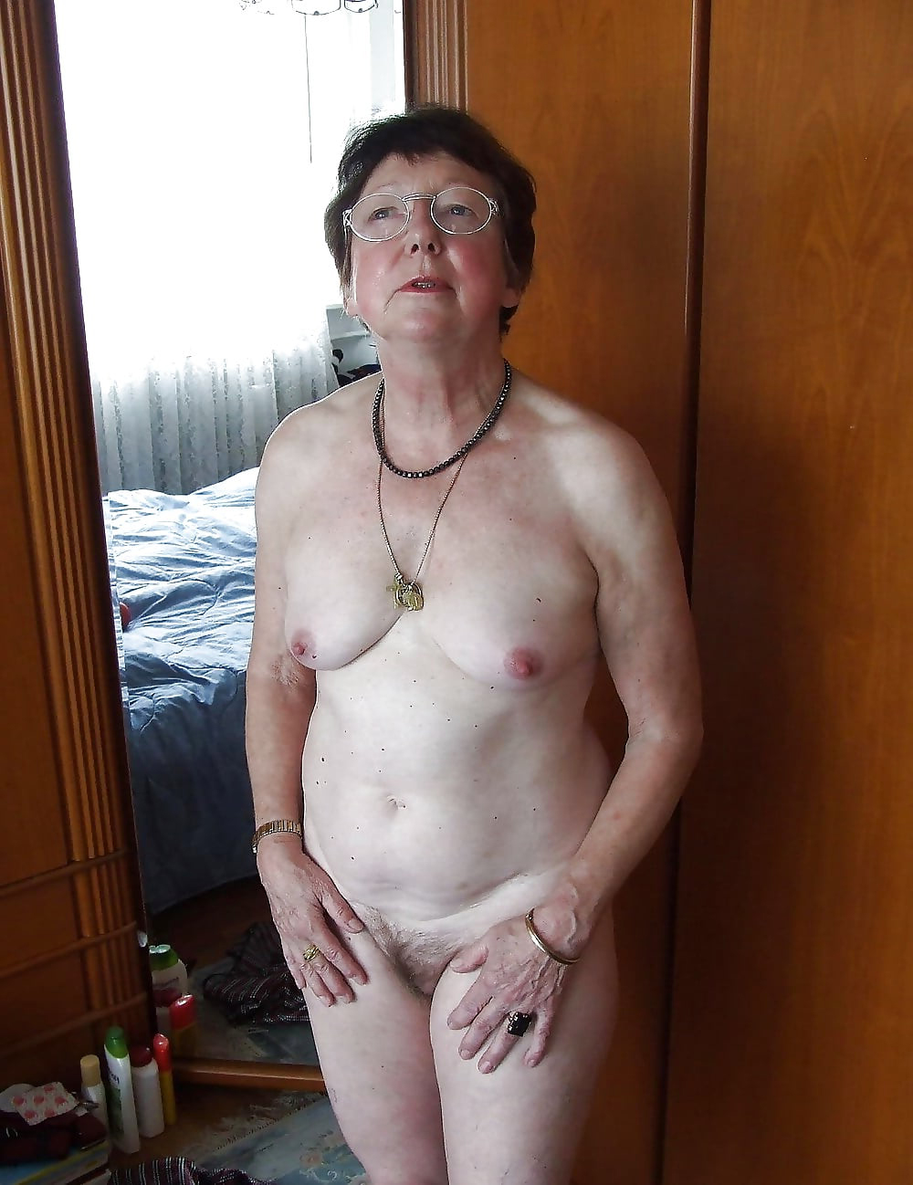 Old lady with nice boobs
