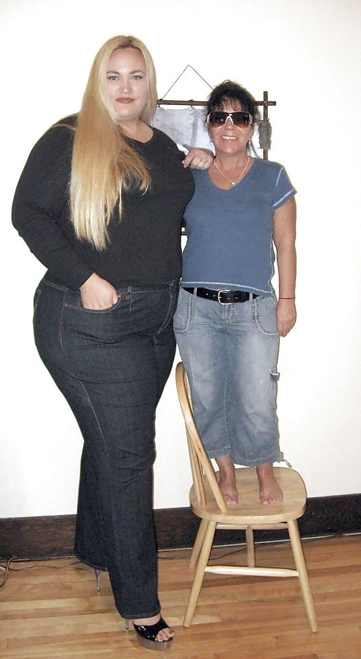 Sexy blonde tall strong woman
