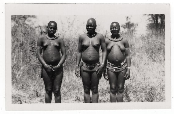 An african black village woman nude