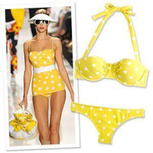 Itsy bitsy yellow dot bikini