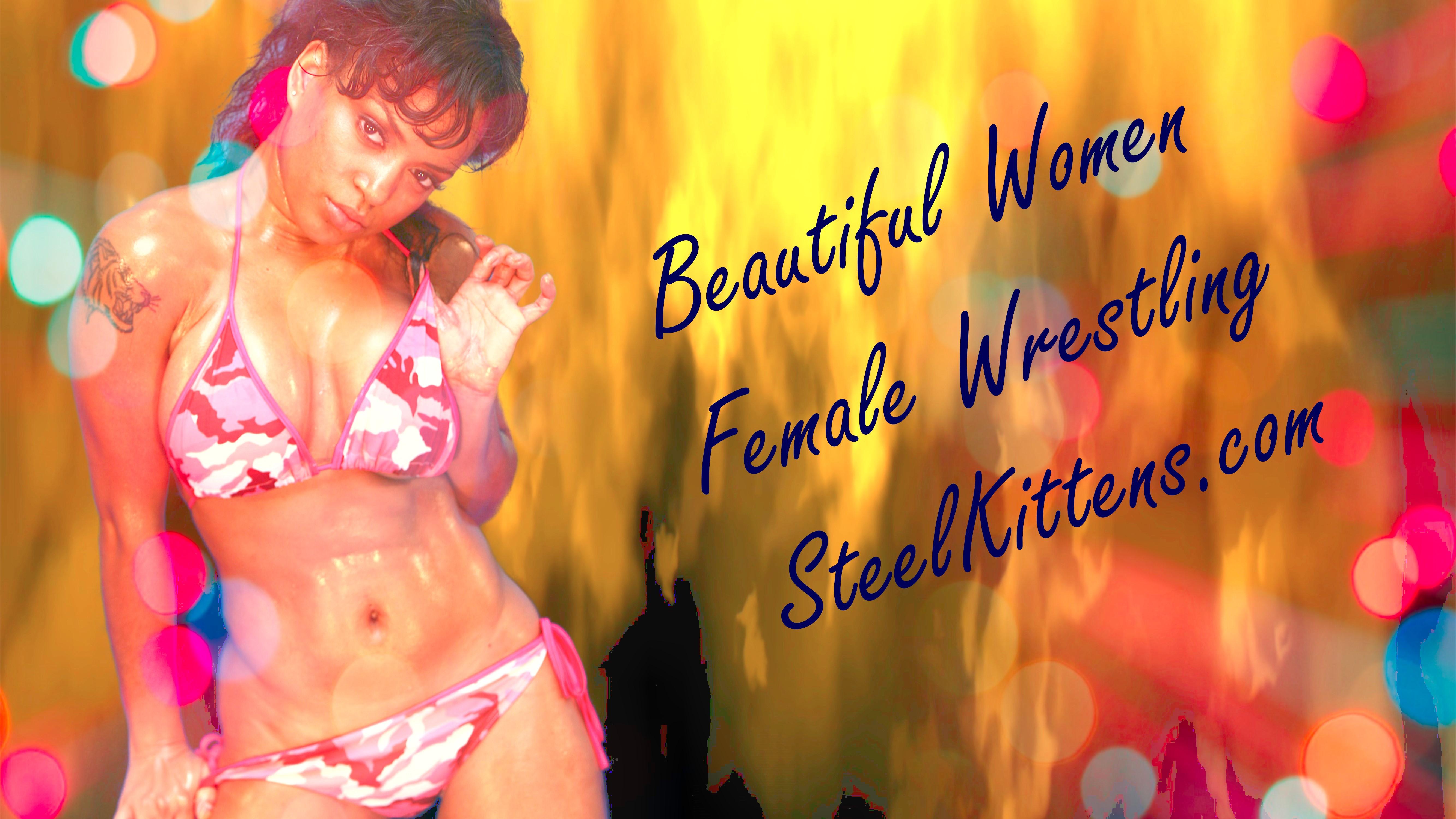 Quisha page bikini wrestler