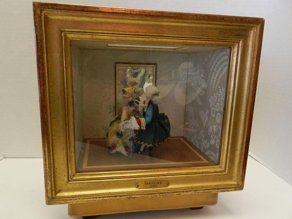 Doll box reuge automata vintage music