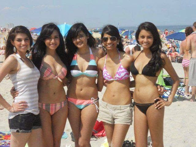 Desi girls at beach