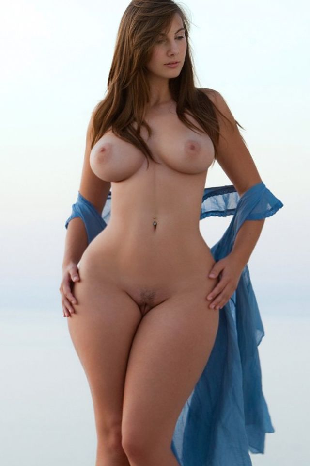 Sexy naked women with a curvy body