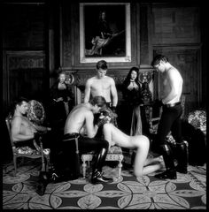 Black and white erotic group sex