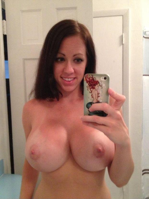 Nice selfie girl with big tits