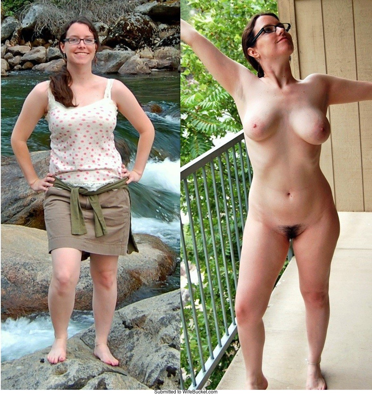 Big tits dressed undressed