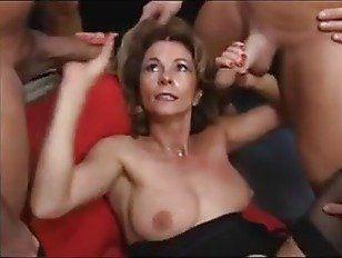 Mature sluts get gangbanged