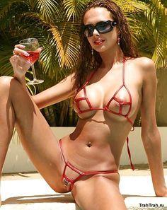 Sexy micro bikini pussy