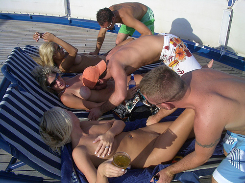 Swingers cruise sex party