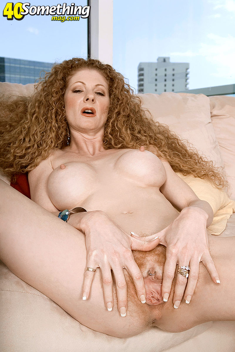 Mature redhead big tits hairy pussy