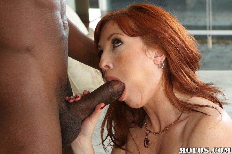 Redhead big interracial tits