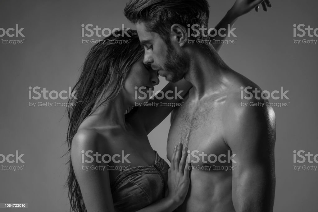 Black and white sex couple