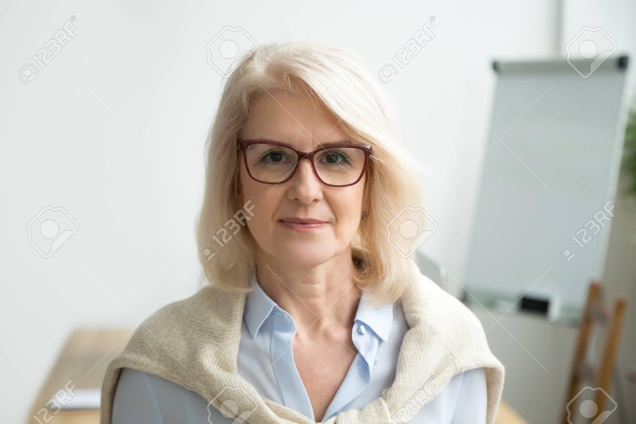 Mature older women glasses