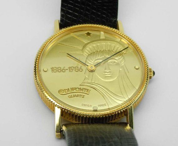 Piccard watch coin lucien vintage