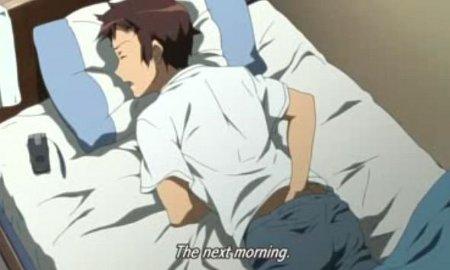 Boy masturebation anime