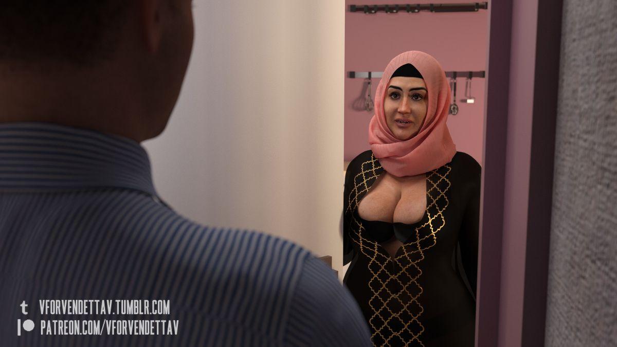 Mom son hijab porn toon