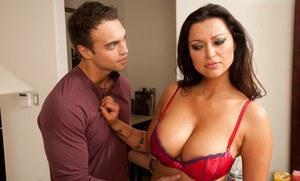 Youth boys sucking youth girls breast