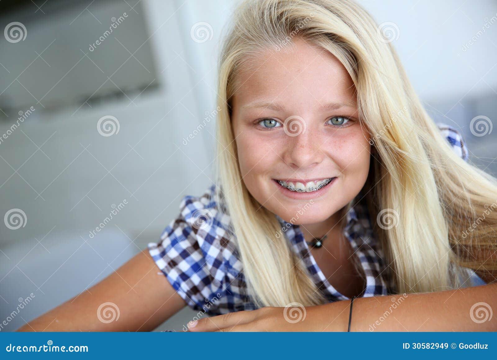 Braces lines tan girl teen