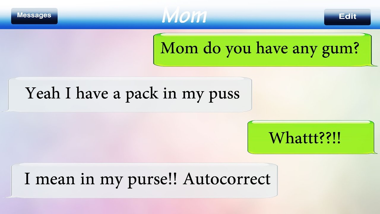 Funny autocorrect text messages