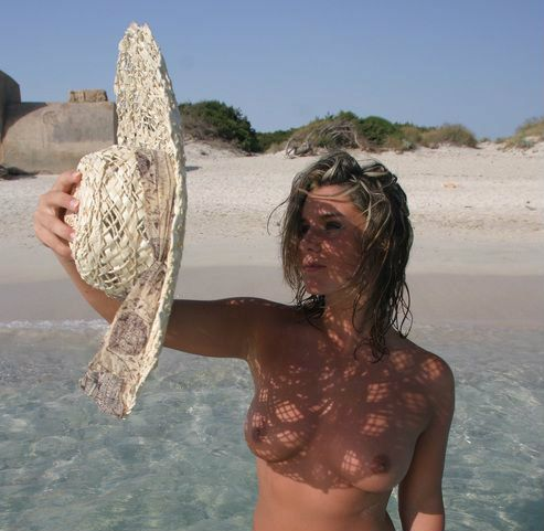 Greek island nude beach girls