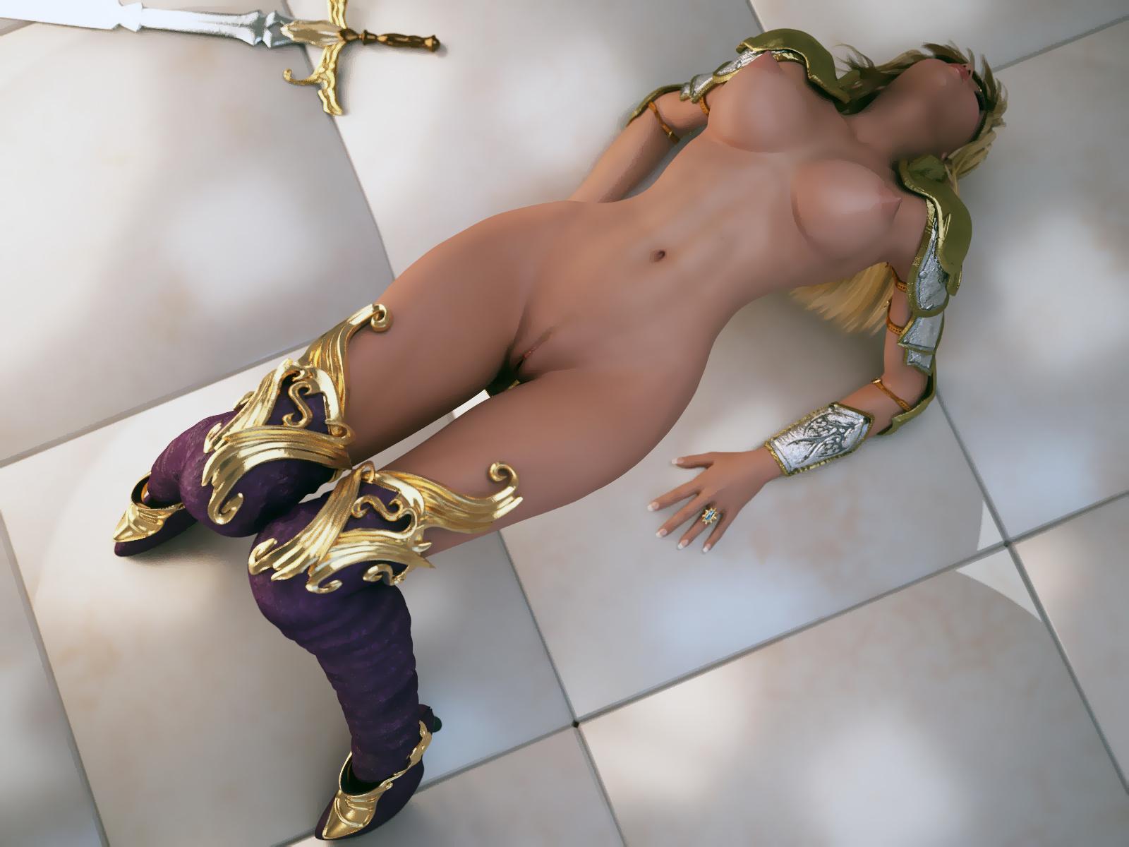 Curvy anime girl nude