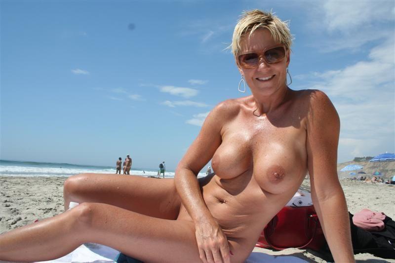 Naked milf at beach