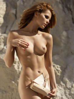Nude glamour models outdoors
