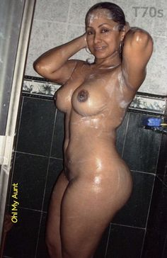 Nude indian aunty shower