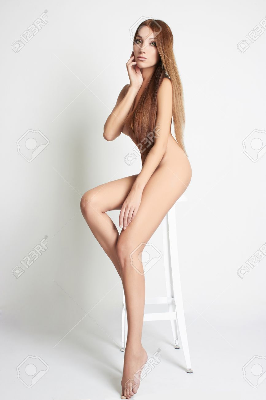Nude women with long legs