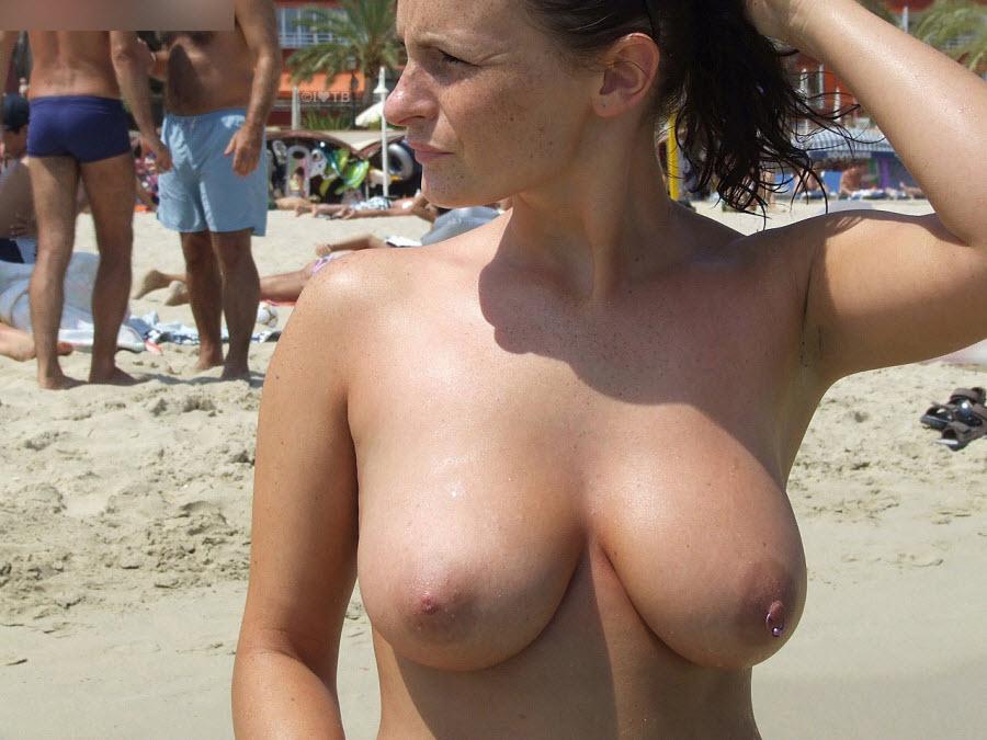 Boobs the natural beach on