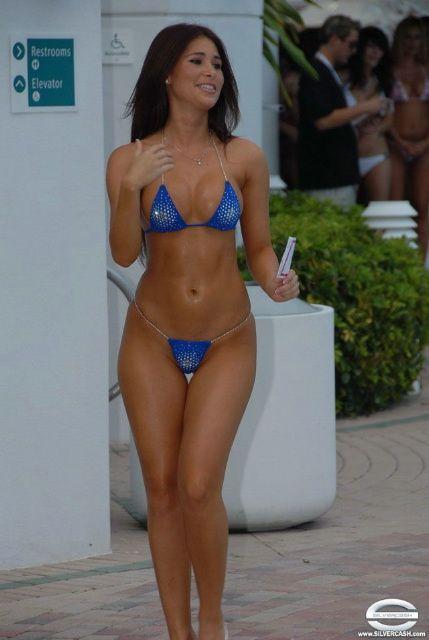 Mature woman bikini contest