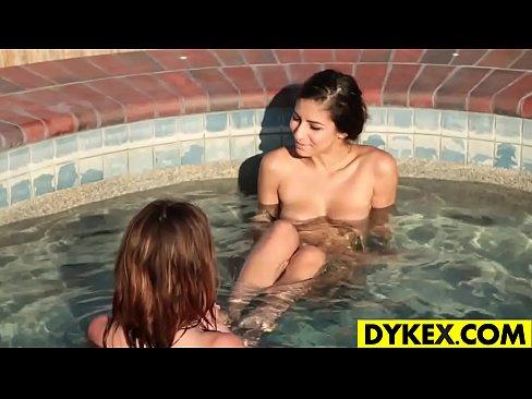 Hot lesbian girls outdoor