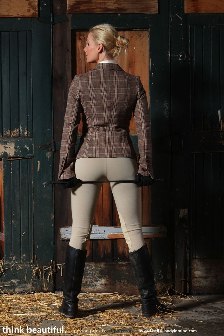 Stable girls in jodhpurs