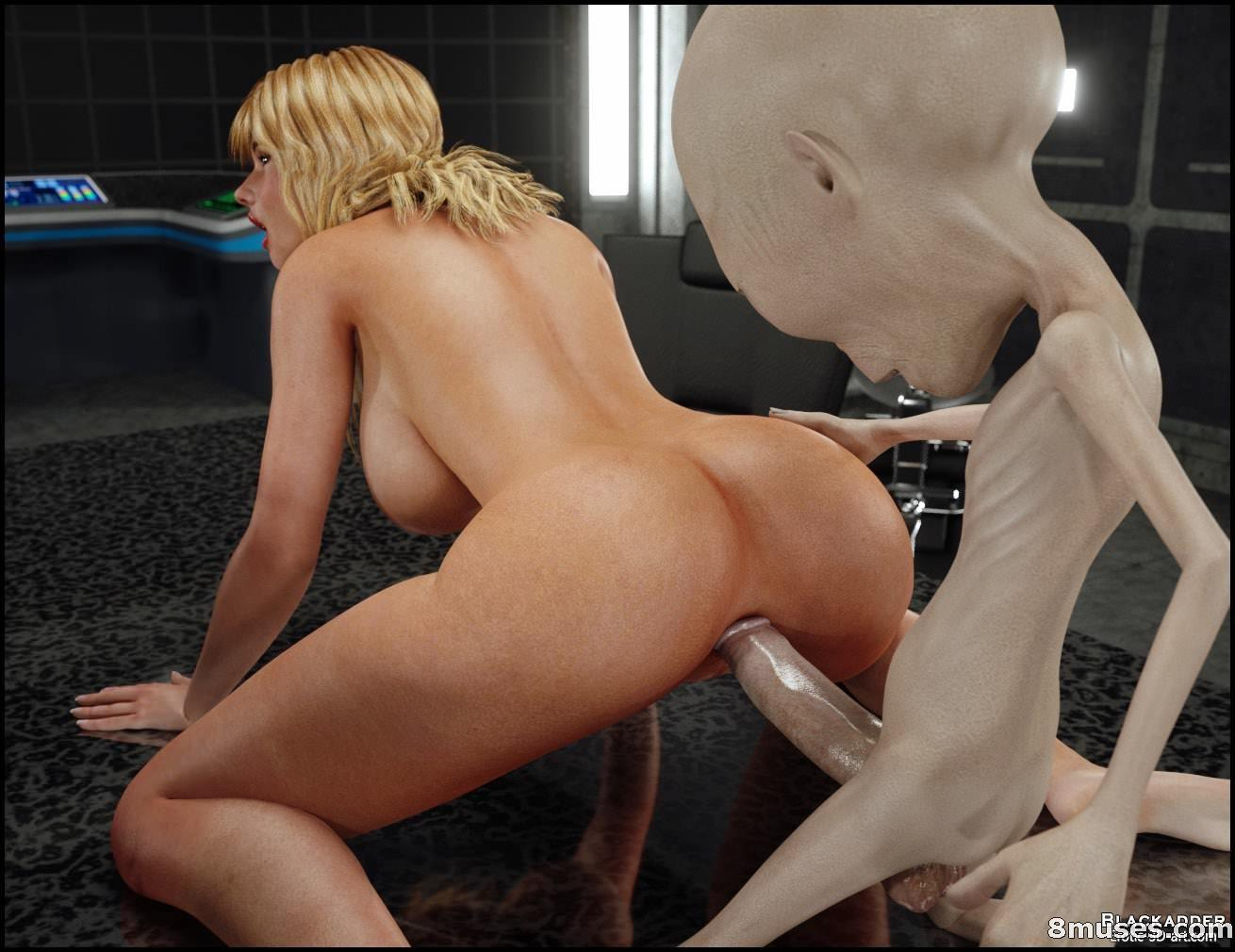 Attacked by alien porn