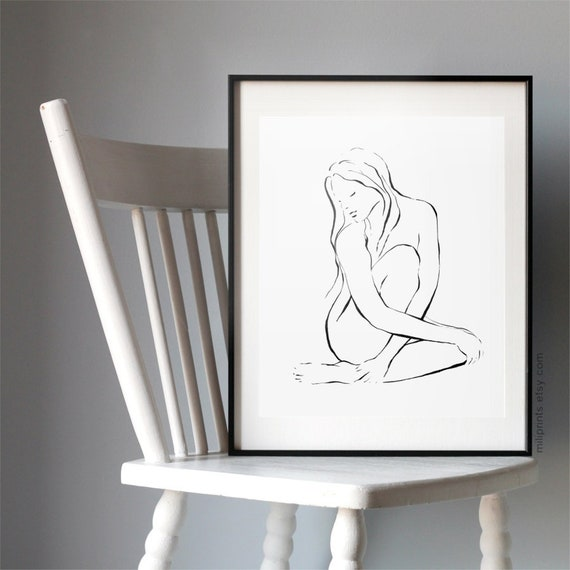 The pussy nude sketch up in