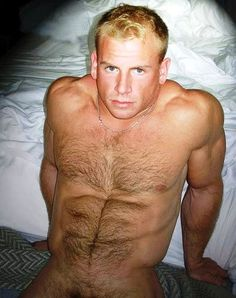 Hairy blond dudes naked