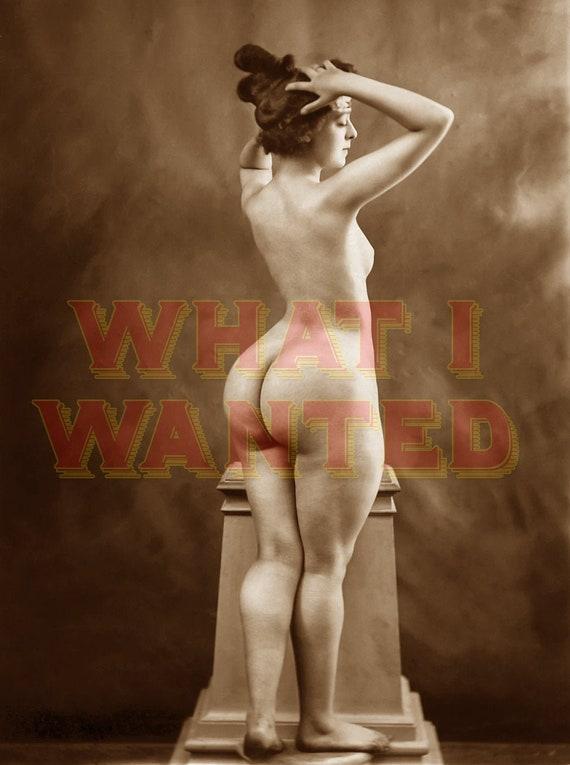 Big huge wide vintage naked ass