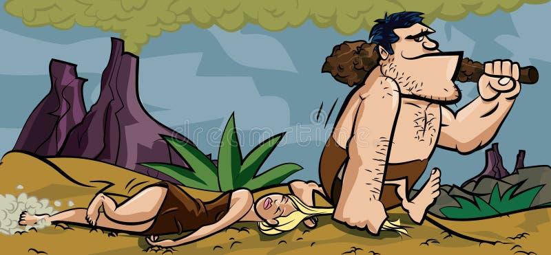 Caveman dragging woman meme