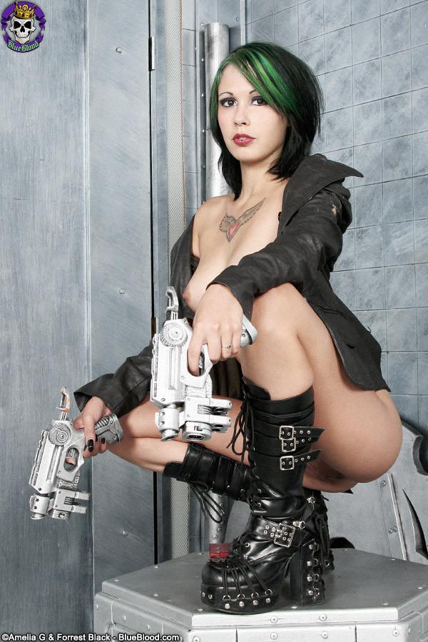 Hot busty goth girl nude