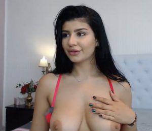Night nude boobs lady