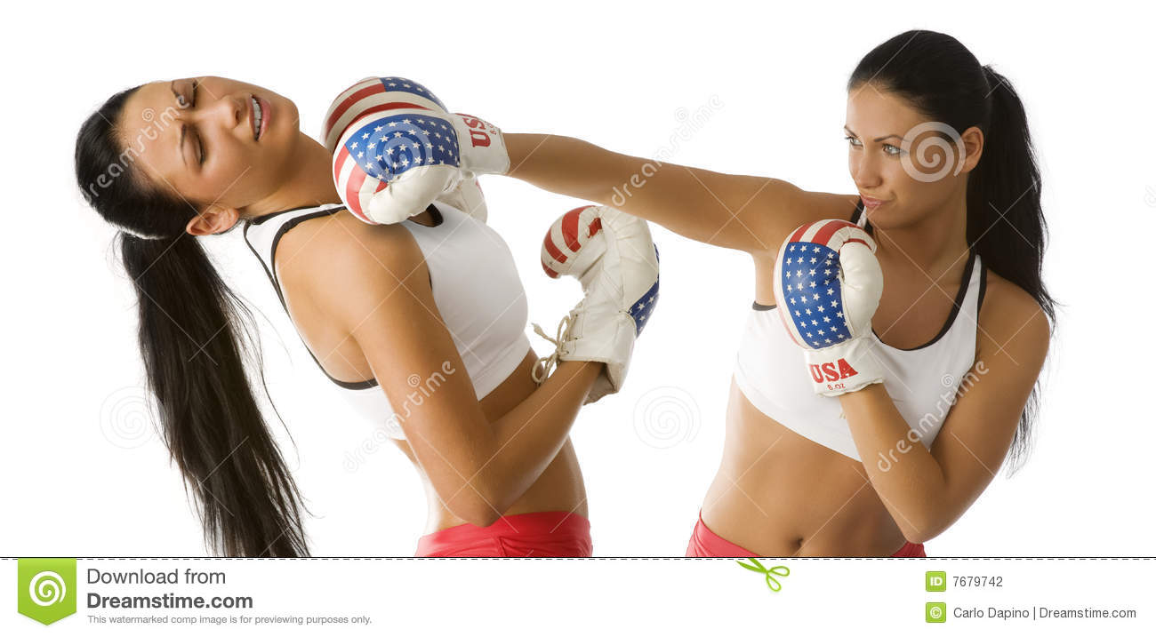 Out knocked knockout boxing bikini