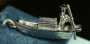 Sterling silver fishing boat asian