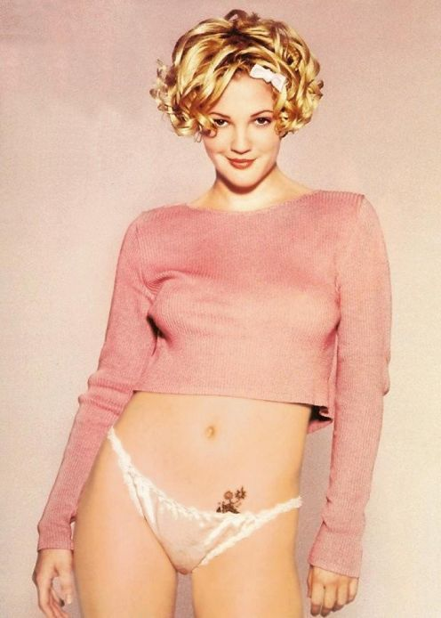 Dru and drew barrymore nude
