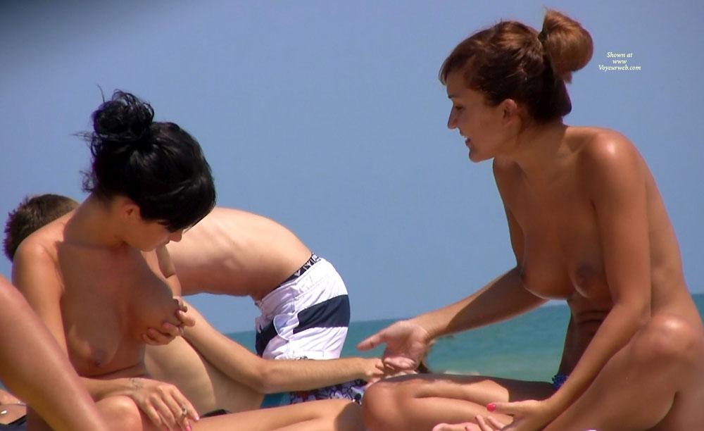 Perky tits beach voyeur
