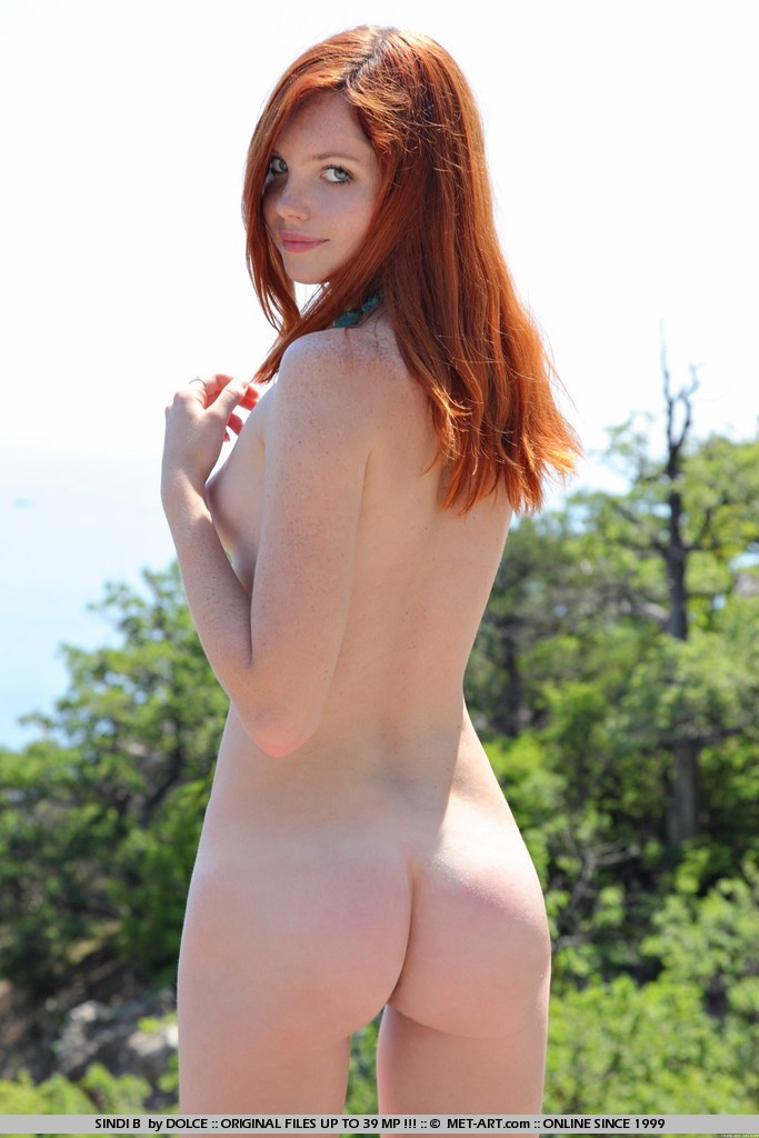 Redhead with freckle nude red hair